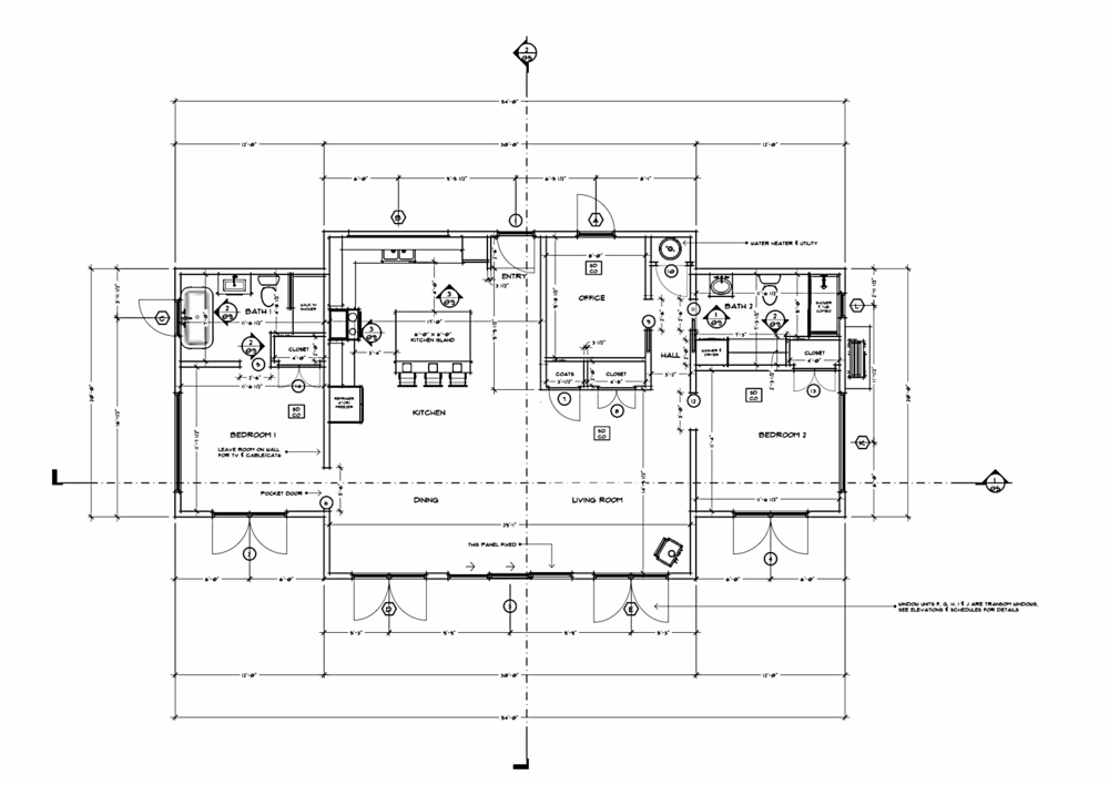 40 Shaughnessy Plan Living minimalist Garage loft