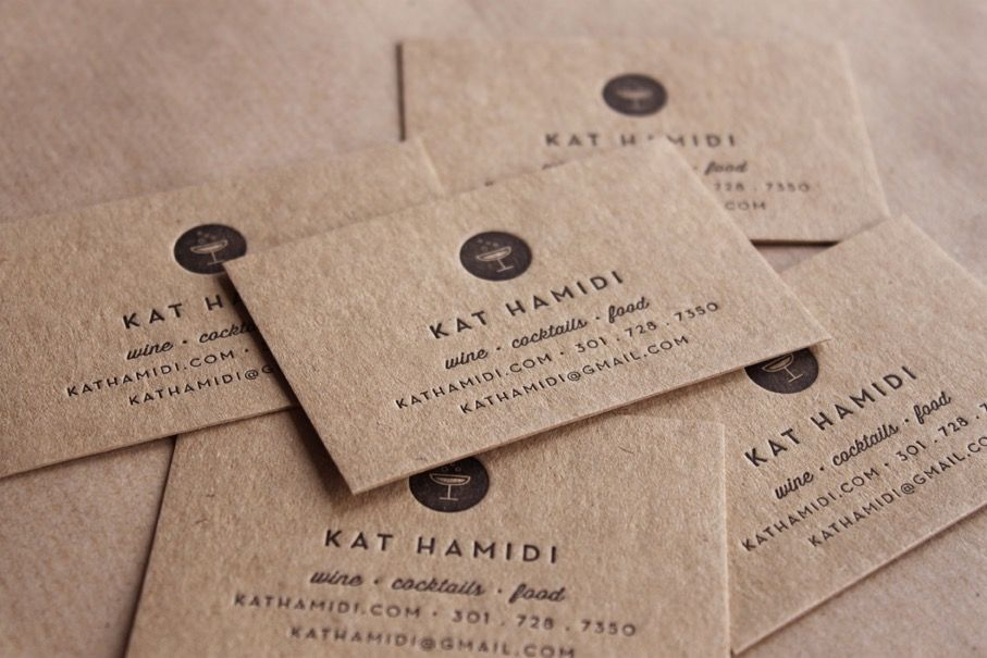 Letterpress Business Cards, Recycled // made to order - set of 200 ...