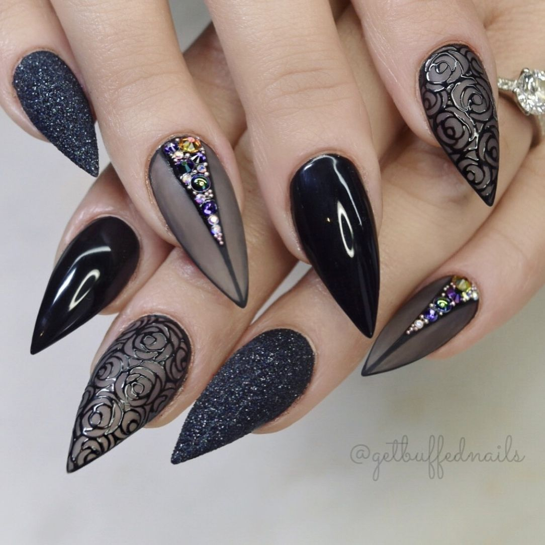 Pin By Ugly Duckling Nail Products On Black Glam Nail Designs