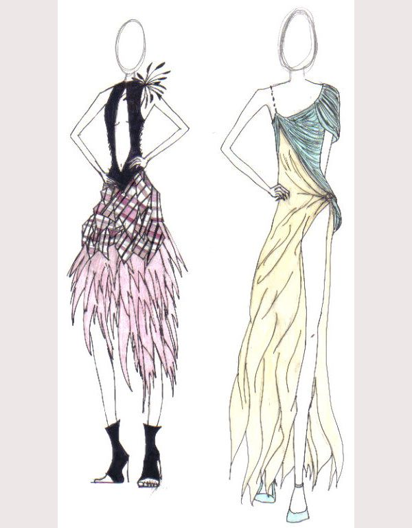 Fashion Sketches for Dress Designing | Gowns and dresses | Pinterest ...