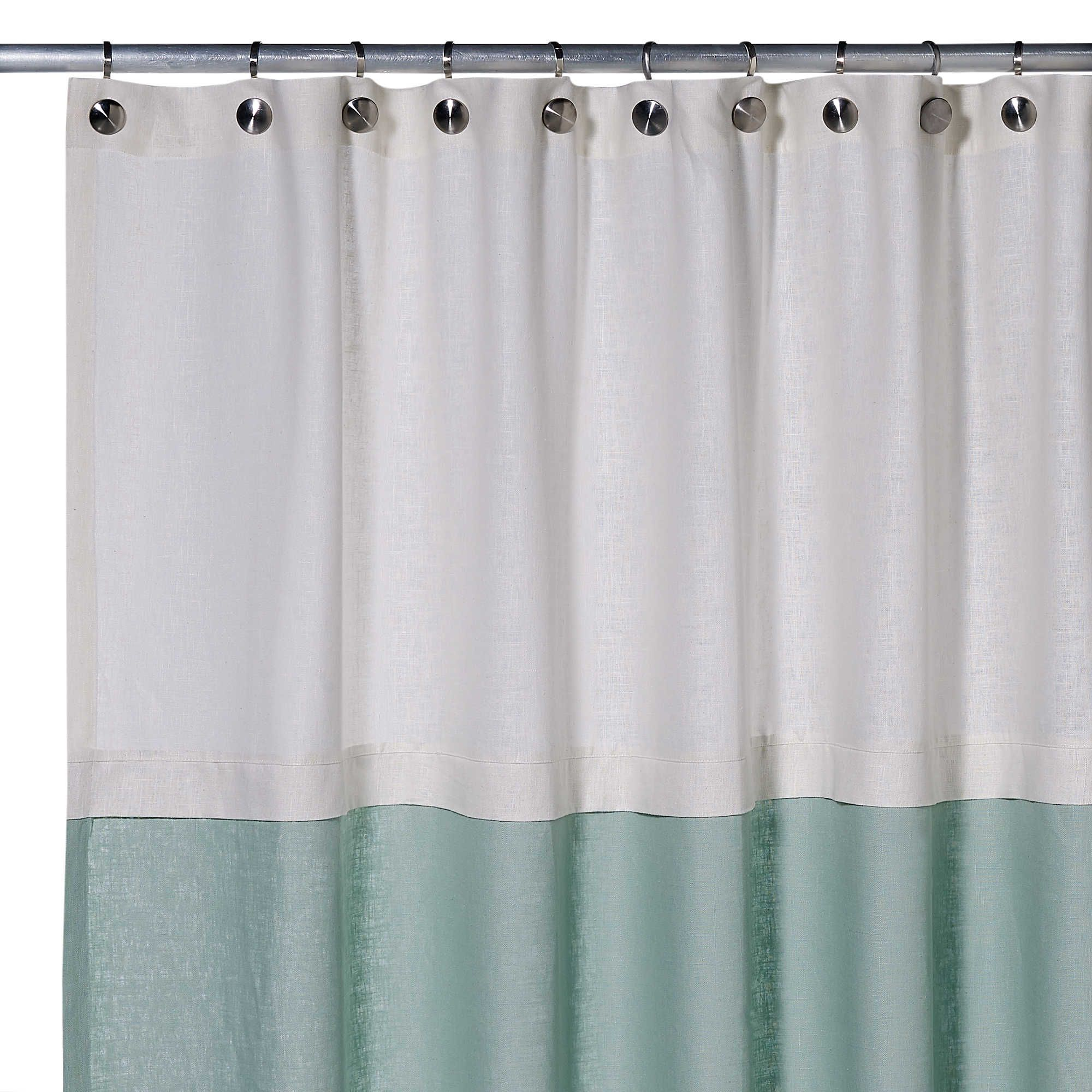 parachute garment curtain products washed linen home shower white