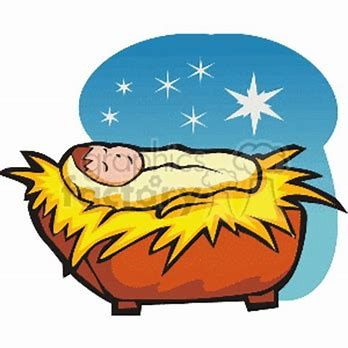 Image Result For Free Clipart Of Baby Jesus In A Manger