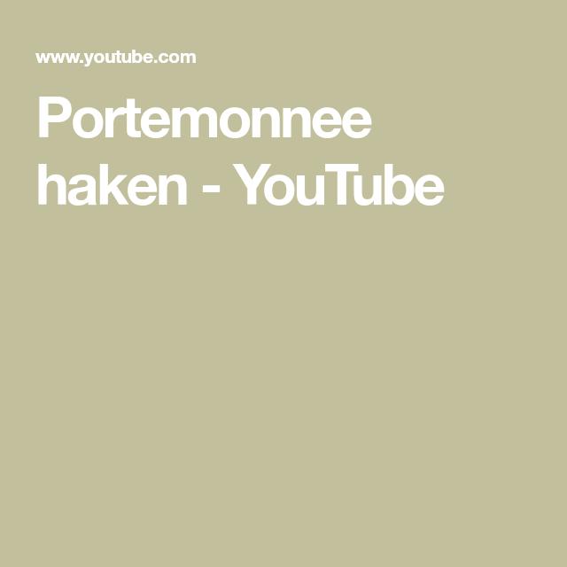 Portemonnee Haken Youtube Haken Pinterest Haken Portemonnee