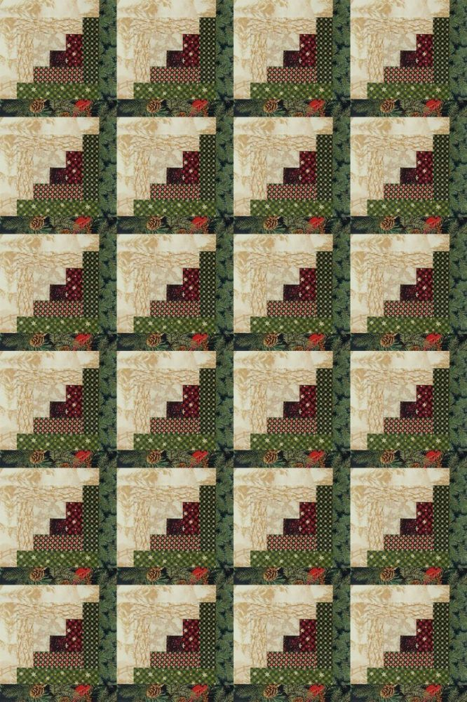 24 Block JORDAN Log Cabin PRE-CUT Quilt Kit 39x58 Winter Pines #Jordans-  Great price for a starter kit for the quilt top.