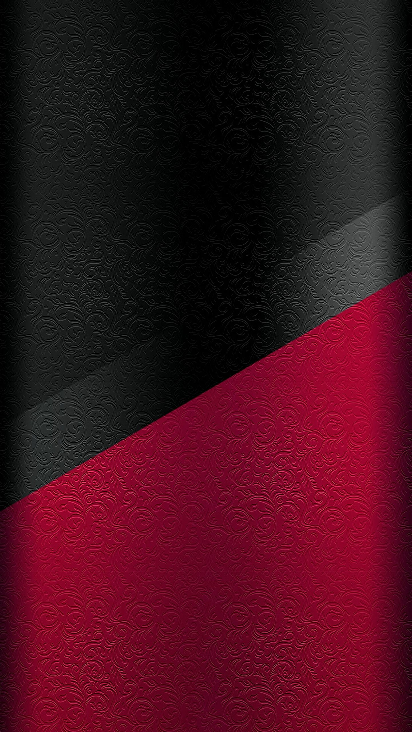 Dark S Edge Wallpaper  With Black And Red Floral Pattern
