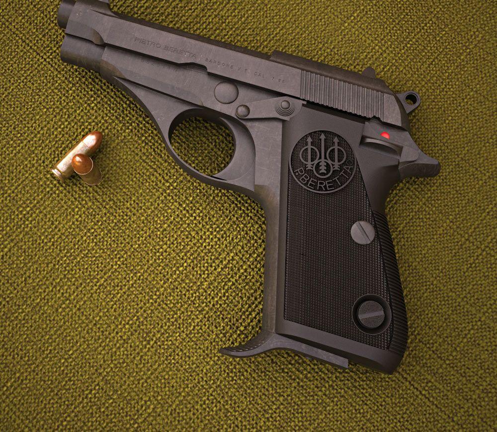 3D model of Beretta 70   Pistols   Hand guns, Pocket pistol