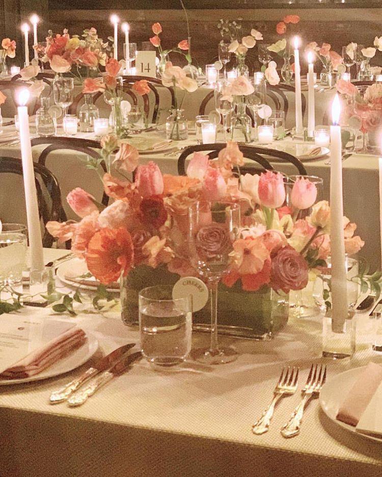 """Table setting — """"Threw a 200 person wedding tonight Aka a"""
