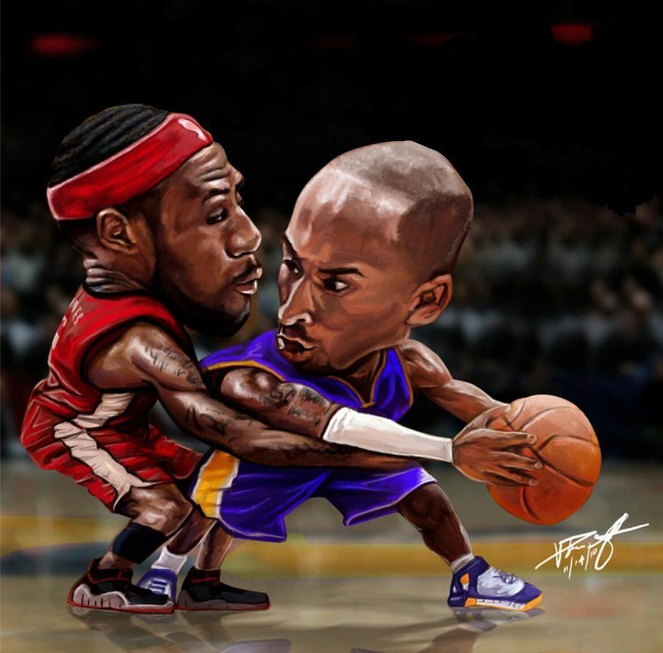 Kobe Vs. Lebron. Great Art! Lebron james, Kobe bryant, Nba