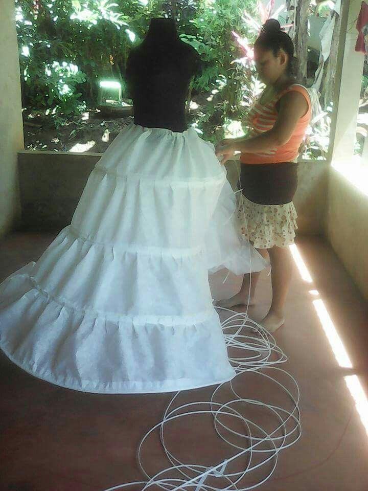 Crinolina para vestidos de novia | moldes | Pinterest | Vestidos de ...