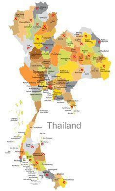 Thailand Karte.Karte Flughäfen Für Urlaub Und Touren Planung Thailand In 2019