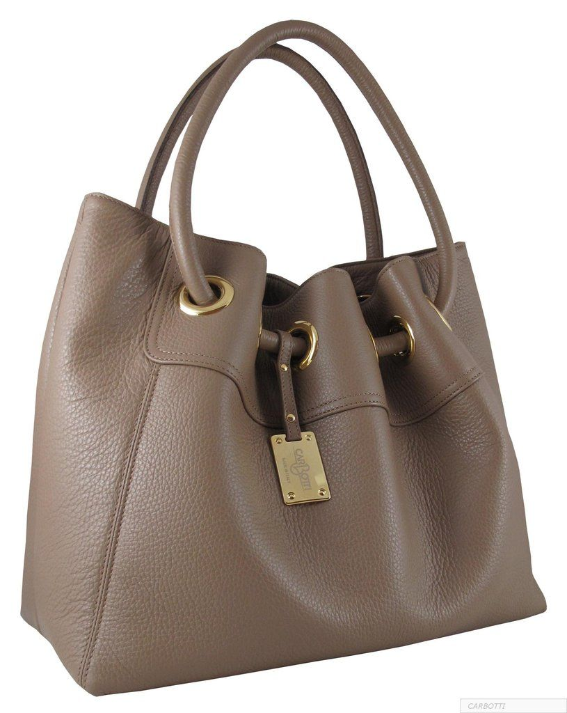 Cuccino Handbag In Italian Leather