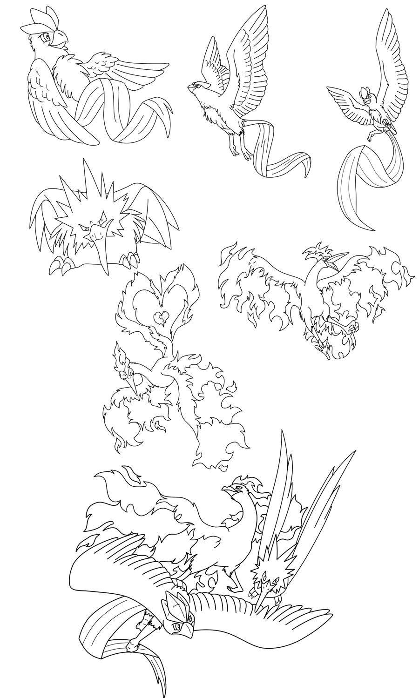 Legendary Bird Lineart By Kitsune Dragonite Kitsune Bird Sky Temple