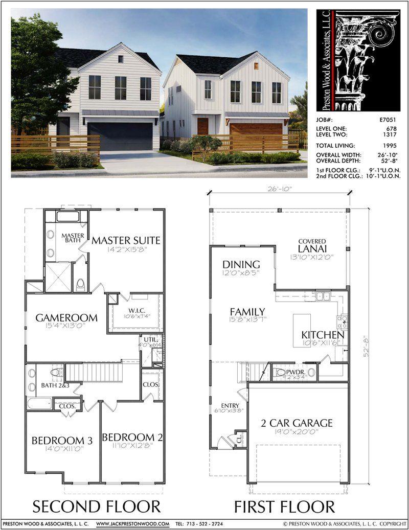 Buy Townhouse Plans Online Cool Townhome Designs Brownstone Homes Preston Wood Associates House Blueprints Narrow House Plans Condo Floor Plans