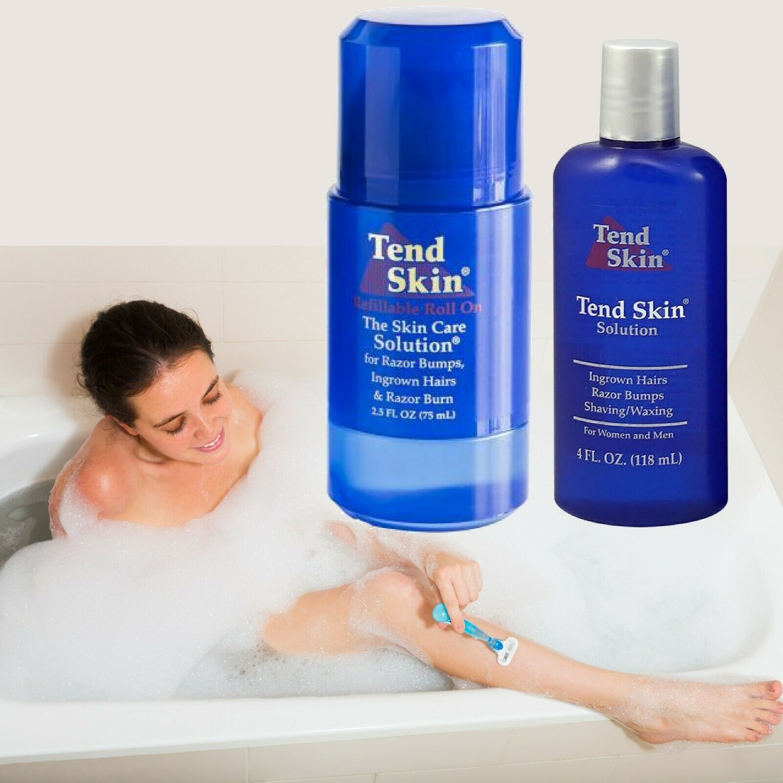 Tend Skin Kit 4oz Roll On Ingrown Hair Razor Bumps Burns Exp03 2021 607575000253 Ebay In 2020 Tend Skin Ingrown Hair Hair Kit
