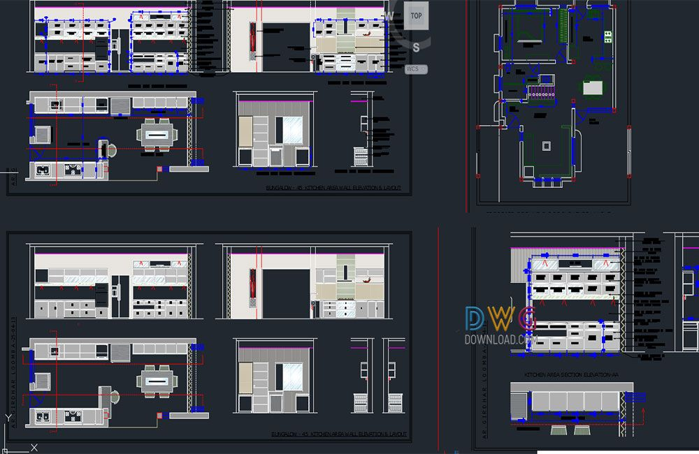 Dwg Download Modular Kitchen Free Dwg Pinterest Kitchens