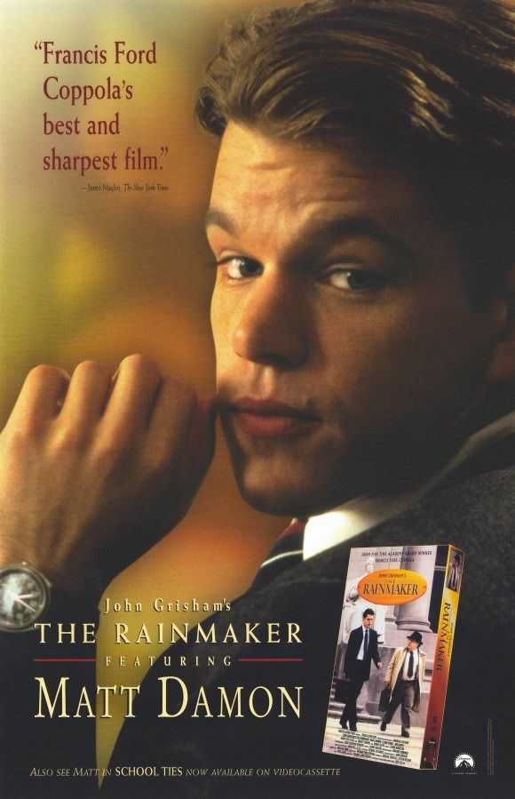 The Rainmaker , starring Matt Damon, Danny DeVito, Claire Danes - presumed innocent movie
