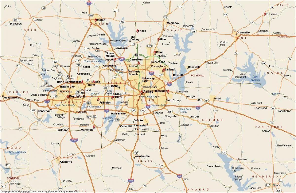 DFW Metroplex map - Map of DFW Metroplex area (Texas - USA) | Fort ...