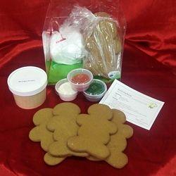 Pre Baked Gingerbread Men Cookie Decorating Kit 100 Nut Free