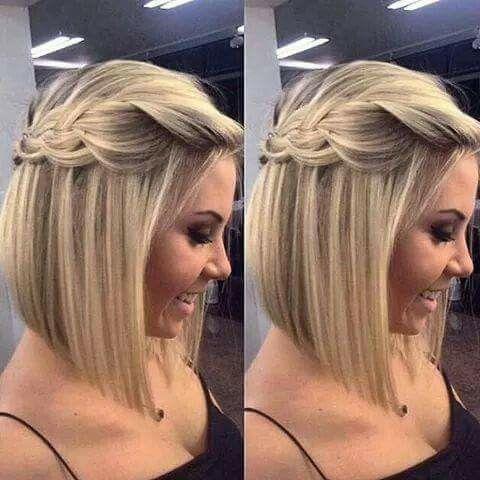 Hermosa Trenza Para Cabello Corto Peinados Peinados Poco Cabello