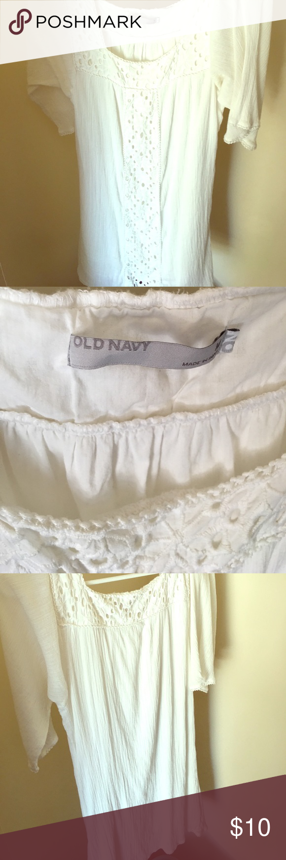 Perfect for a beach cover up Off -white dress Old Navy Swim Coverups