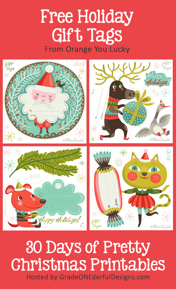 Gorgeous Gift Tags - Pretty Christmas Printables