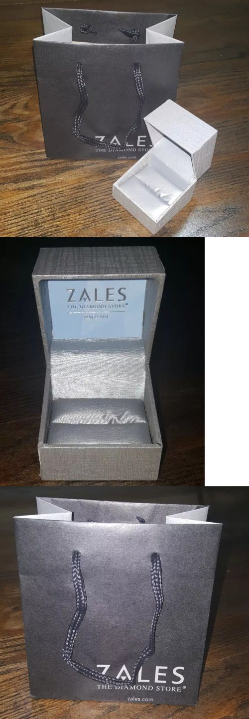 Ring 168163 Authentic Zales Ring Box And Bag -\u003e BUY IT NOW ONLY