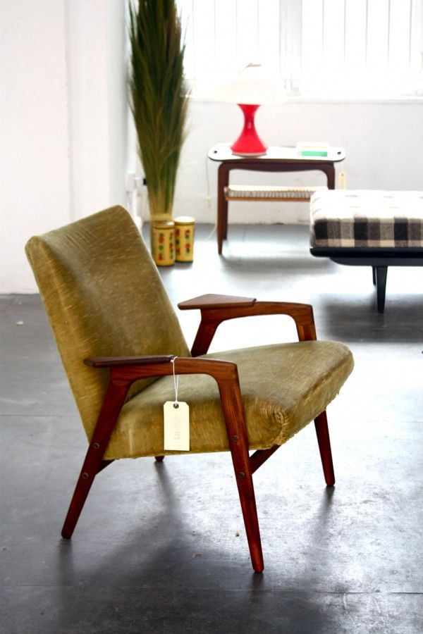Silla vintage segunda mano tiendas muebles vintage madrid for Sillas madera segunda mano