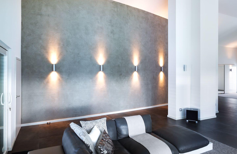 Bemerkenswert Wohnzimmer Wand Design Foto Von Betonoptik Malermeister Kniesburges Paderborn #dermaler #betoncire #pandomo