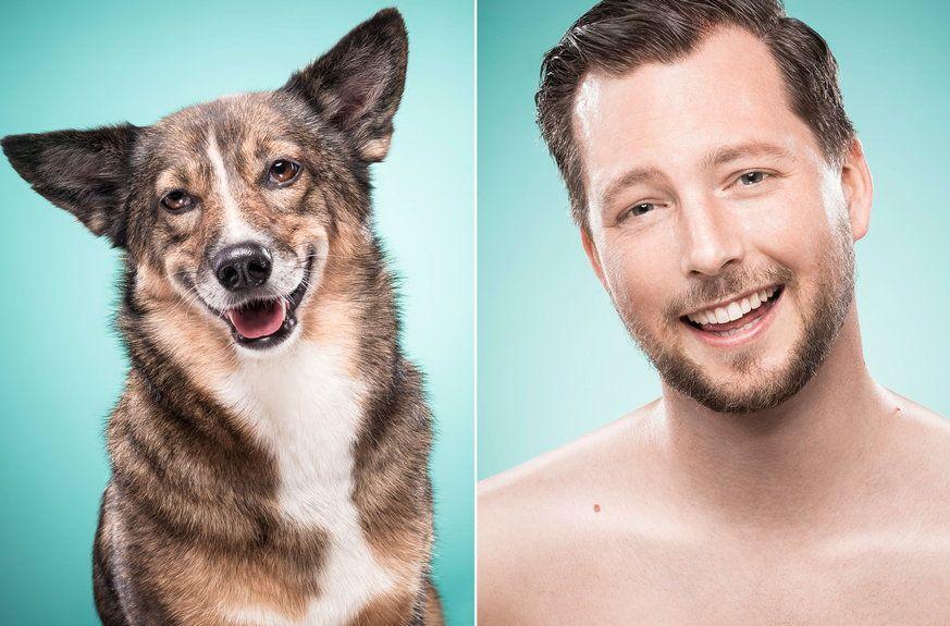 Dieses Fotoprojekt Zeigt Wie Ahnlich Sich Besitzer Und Hunde Hunde Haustiere Fotos