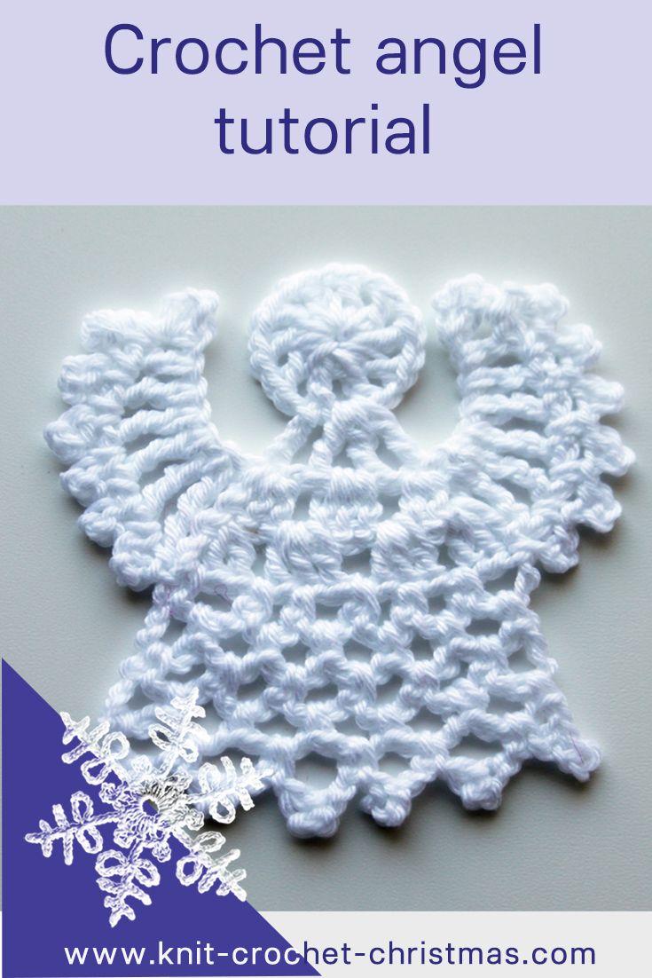 Crochet angel video tutorial | Pinterest | Einfache dekorationen ...