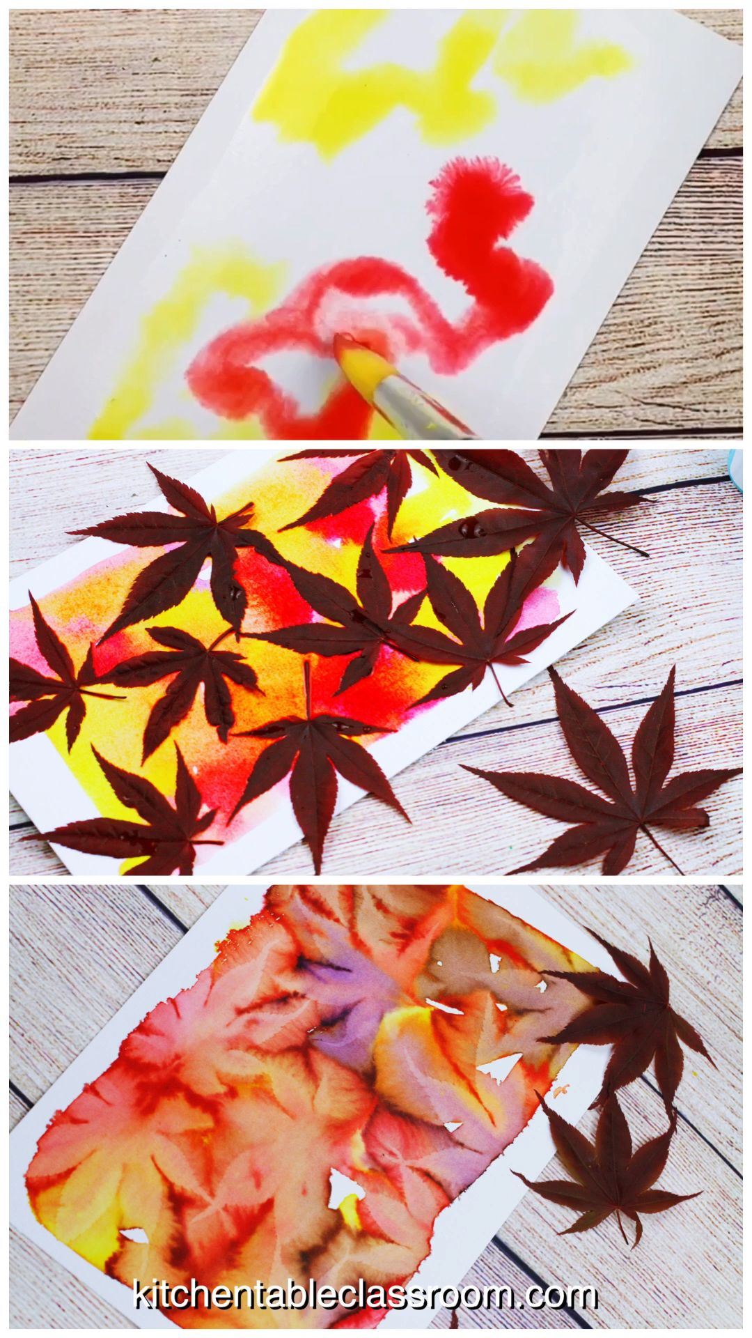 Leaf Printing- Stunning Watercolor Botanical Prints - The Kitchen Table Classroom #leafcrafts
