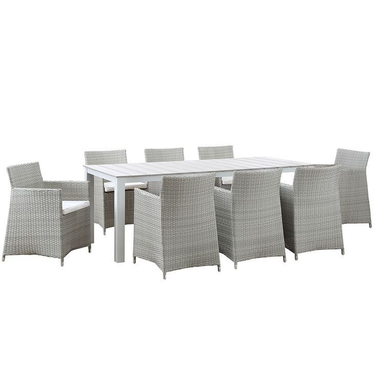 Modway Furniture Modern Junction 9 Piece Outdoor Patio Dining Set