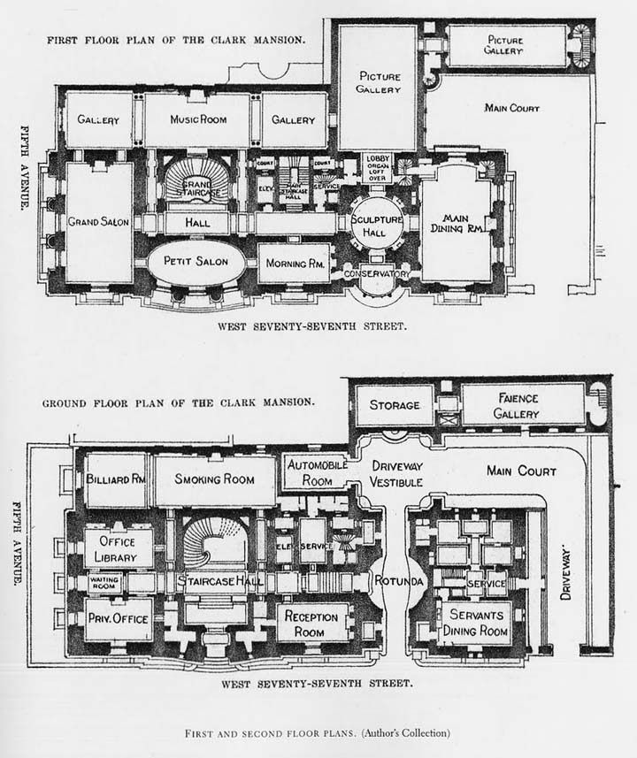 Gothic Mansion Floor Plans