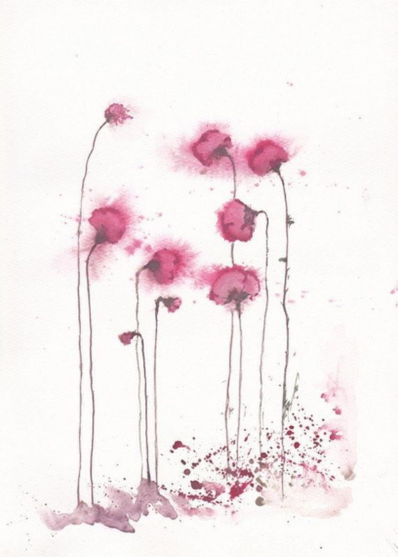 Sailent In Fuchsia Art Watercolor Painting Watercolor Art