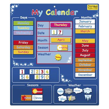 My First Magnetic Calendars Children And Toddler Toys Gifts And