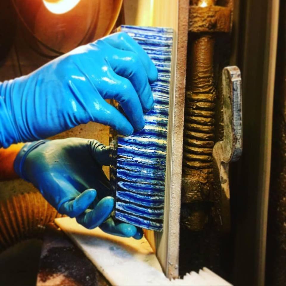 Cutting Blue Mammoth Molar | Raffir Fossils | Mammoth tooth