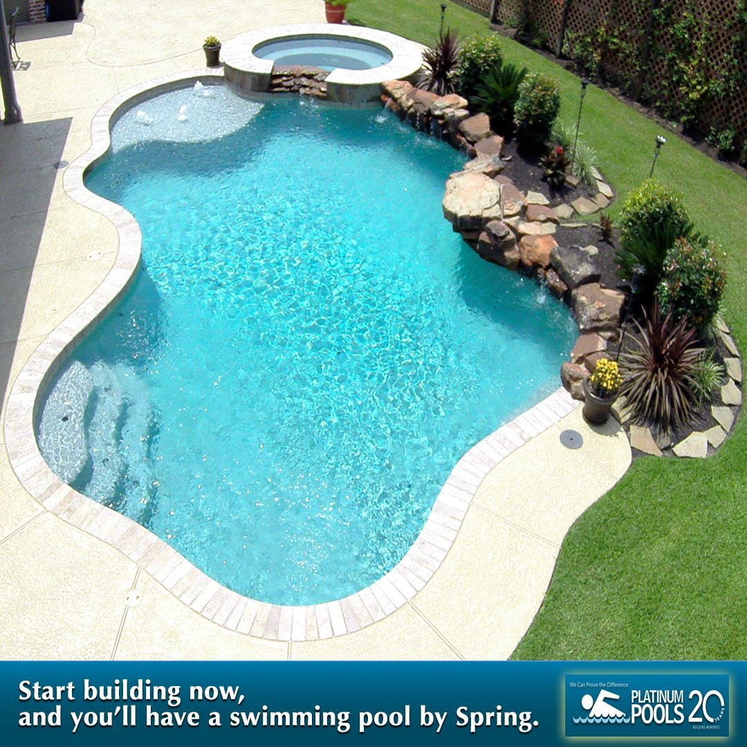 You can have a pool by springtime by starting now for Piletas de natacion para espacios reducidos