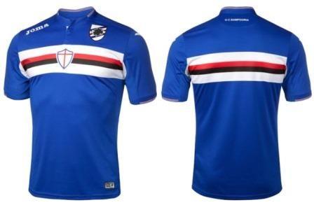 La nueva camiseta Joma de la Sampdoria reproduce el himno del club ... 3025d65b4d9dc