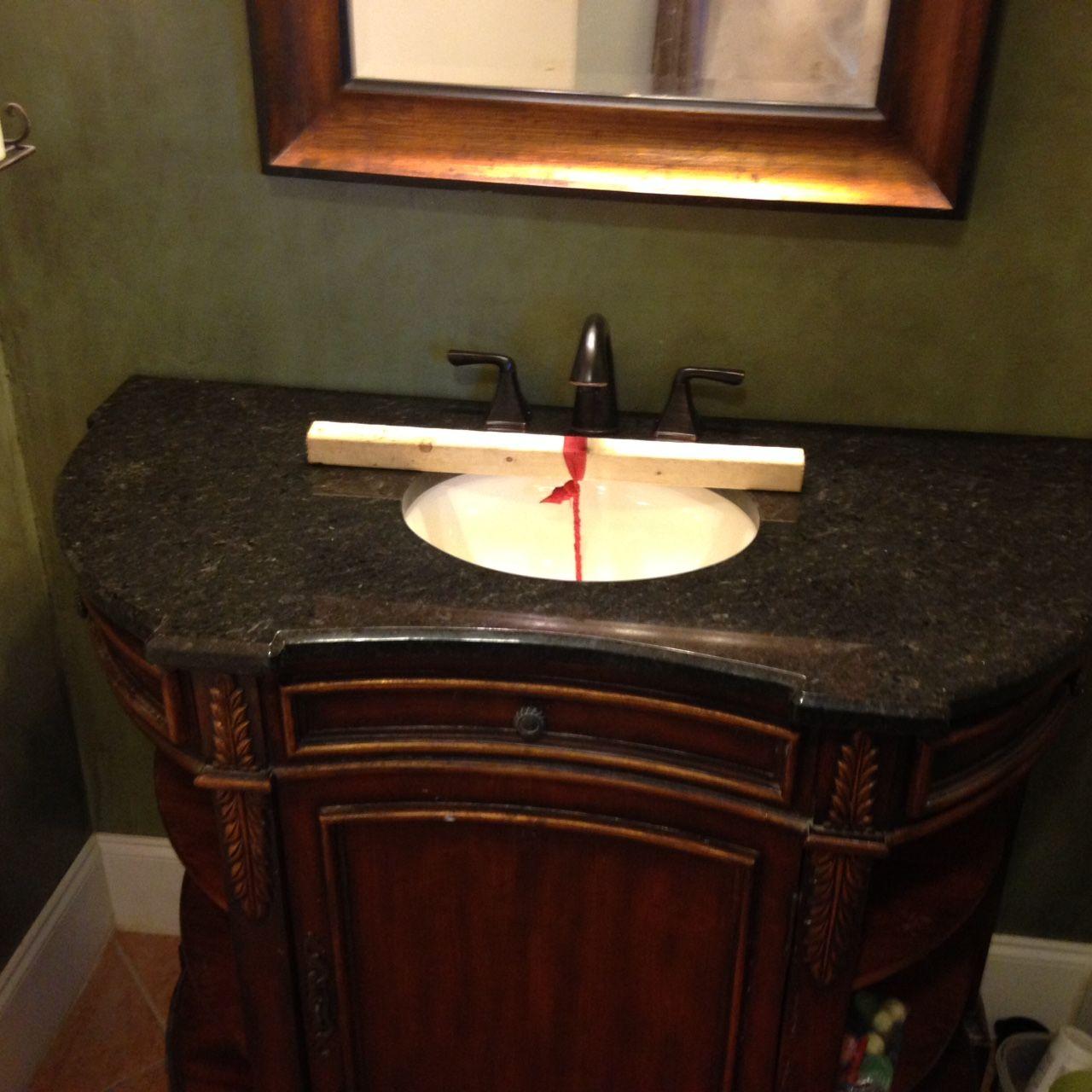 black pearl granite bathroom vanity install for the slaton family knoxvilles stone interiors showroom