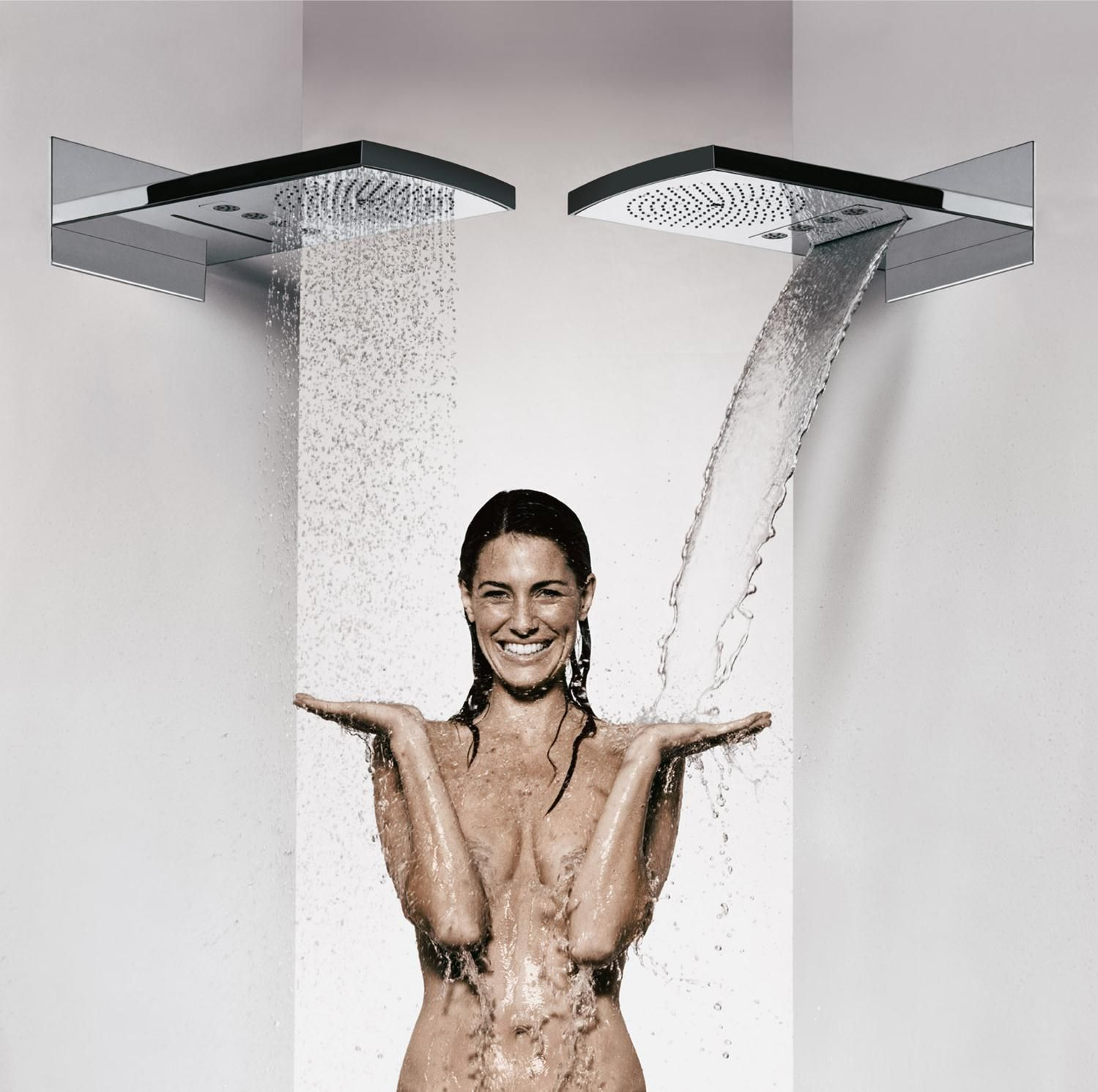 Alexia Dives Posted Raindance Rainfall Shower Head By Hansgrohe: Waterfall,  Hydromassage Via A Shower Of Aerated Raindrops, Or Both? Via Indesignlive  Head