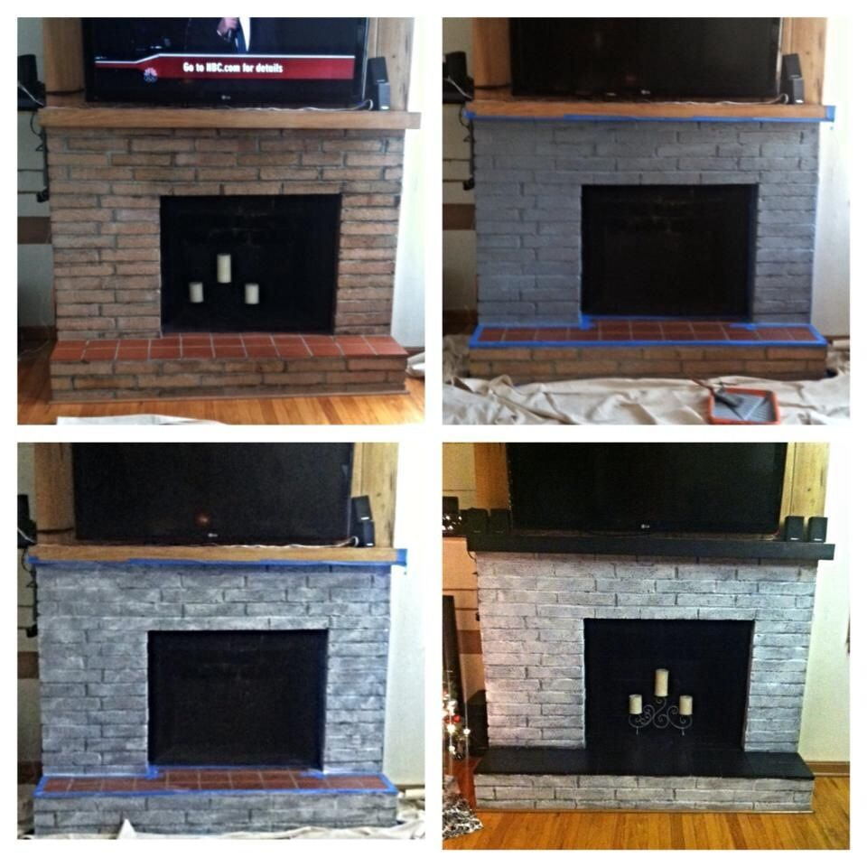 redone fireplace refurbished fireplace turned an old outdated