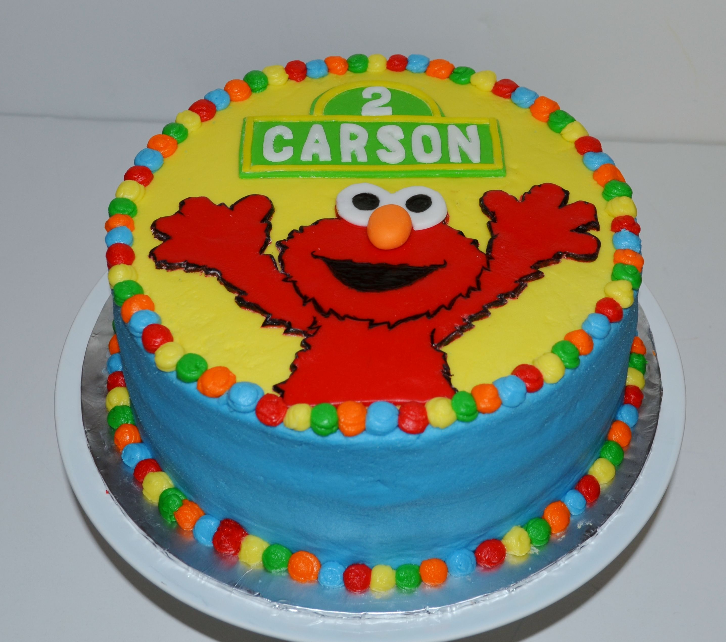 Pleasant Elmo Birthday Cake Carrot Cake With Cream Cheese Frosting Elmo Personalised Birthday Cards Veneteletsinfo