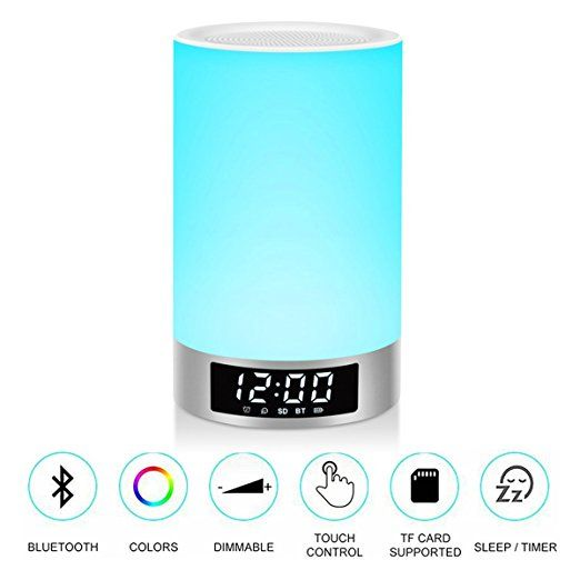 Jacaranda L5 Bedside Touch Lamp Smart Night Light Hd Sound Portable Bluetooth Speaker With Rgb Color Changing Lig Touch Lamp Color Changing Lights Night Light