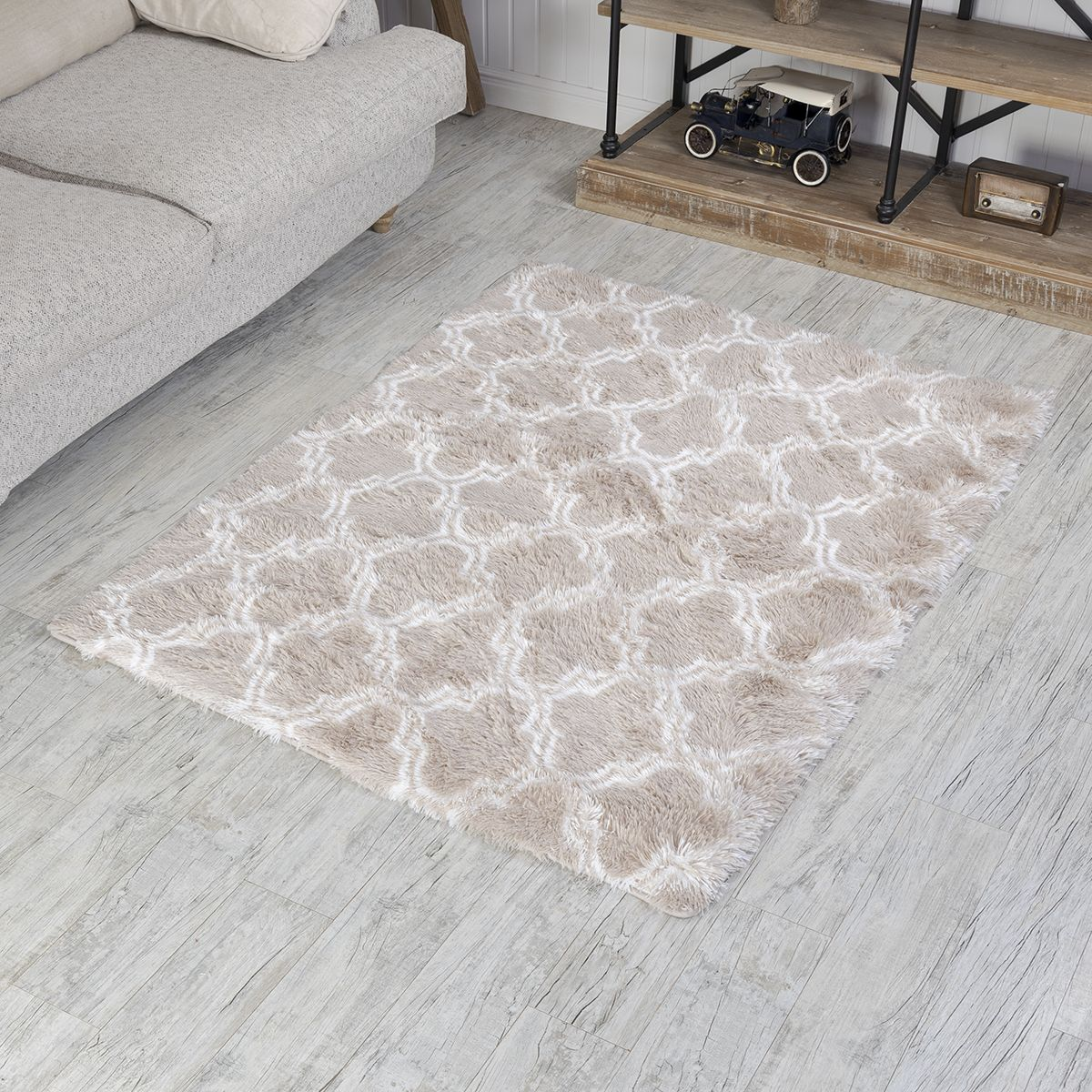 سجادة أرضية فرو بيج 120 160 سم Home Decor Decor Carpet