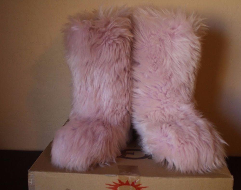 a4b2abd3546 UGG Australia Fluff Momma PINK Sheepskin Boots #5302 Women's Size 9 ...