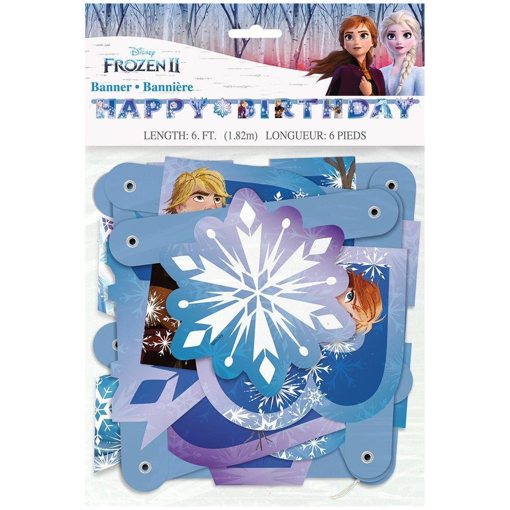 Disney Frozen 2 birthday banner 6.25ft in 2020 Disney