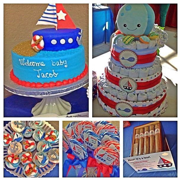 My baby shower! Nautical theme. It was beautiful.