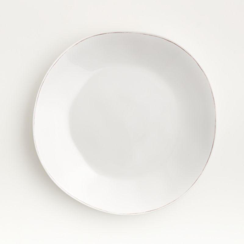 Marin White Melamine Dinner Plate Reviews Crate And Barrel In 2020 Melamine Dinner Plates Blue Dinner Plates Dinner Plates