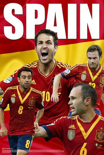 Spain World Cup 2014 Power Four Mata Iniesta Xavi Fabregas Soccer Poster Starz Soccer Poster World Cup World Cup 2014
