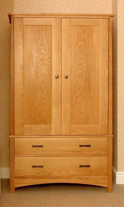 Free armoire wardrobe plans cabinetmaking how to build a wardrobe from oak projects to try for Wardrobe cabinet design woodworking plans